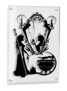 Evil Queen Snow White silhouette handcut paper craft by willpigg
