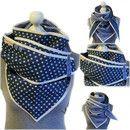 Dieses Wende- Dreieckstuch von Frau Luther ist ein megacooles Dreieckstuch mit Jeansblau und Sternen und klassischen Streifen.  Einmal um den Hals gewickelt und du hast nicht nur ein- sondern zwei...