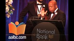 Congressman John Lewis, Andrew Aydin, and Nate Powell received the National Book Award in the Young People's Literature category, for the concluding volume of their bestselling graphic novel trilogy March. #NationalBookAward