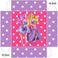 Cajitas Imprimibles Barbie Princesa y Pop Star.   Ideas y material gratis para fiestas y celebraciones Oh My Fiesta!