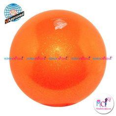 #Pelota de Gimnasia #Rítmica Pastorelli glitter-HV-naranja