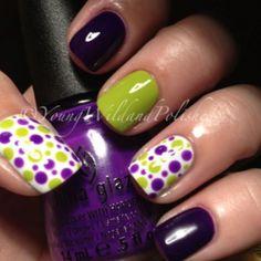 Manicure pedicure combo design polka dots 21 Ideas for 2019 - Fingernägel Cute Halloween Nails, Halloween Nail Designs, Trendy Nail Art, Cool Nail Art, Polka Dot Nails, Polka Dots, Best Nail Art Designs, Get Nails, Manicure And Pedicure