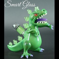 Reptar Glass Oil Rig by Smart Glass. I need a Reptar pipe OMG
