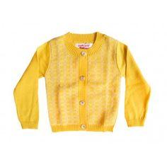 Aymara geel truitje met knoopjes Resse