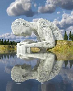 "Chad Knight is a artist creating mind-bending digital art. His unique approach to digital sculptures fascinates people all over the internet. ""I think I became an artist at conception,"" Chad told the Klassik Magazine. Knight Art, 3d Drawings, Wow Art, 3d Artist, Land Art, Public Art, Monuments, Installation Art, Art And Architecture"