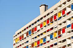 UNITÉ D'HABITATION   MARSEILLE   FRANCE: *Built: 1946-1952; Designed By: Le Corbusier; Also known as: La Cité Radieuse*