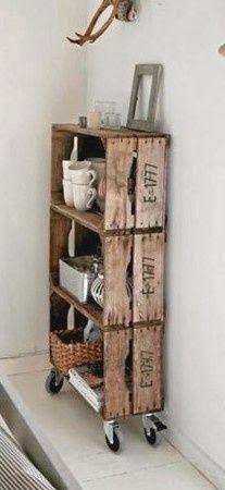 Reciclando caixotes - * Decoração e Invenção *