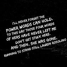 Running to Stand Still  Lauren Rosolino