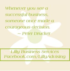 Business owners are courageous!  LillyAdvising.com