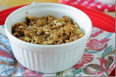 Oatmeal Apple Crisp (just two little servings)...I'm trying these little  babies tonight.
