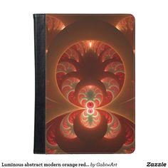 Luminous abstract modern orange red Fractal iPad Air Case