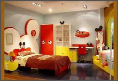 Mickey Mouse ~ Bedroom ~ red/white/yellow