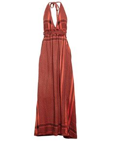 CECILIE COPENHAGEN | Long Halter Keffiyeh Dress | brownsfashion.com | The Finest Edit of Luxury Fashion | Clothes, Shoes, Bags and Accessories for Men & Women