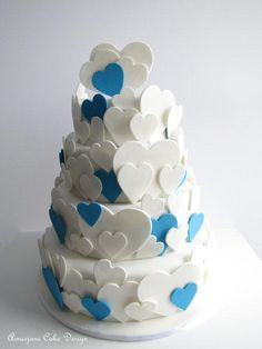 Vintage Heart Wedding Cake