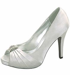 Women-039-s-Classic-Fun-Satin-Open-Toe-Satin-High-Heel-With-Pleated-Detail-Front