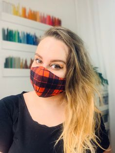 Face Mask, 100% Cotton Mask, Reusable & Washable, Double or Triple Laye Cue Red Mask Red Mask, Donate To Charity, Ear Loop, Tie Backs, Fabric Design, Cotton Fabric, The 100, Knifes, Cotton Textile