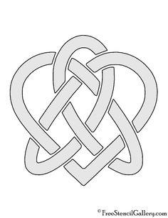 Celtic Knot - Heart Stencil Celtic Mandala, Heart Stencil, Free Stencils, Celtic Knot, Mandala Design, Knots, Jewelry Making, Symbols, Letters