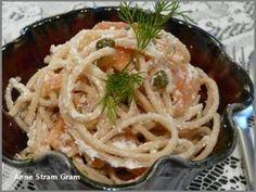 Spaghetti au saumon fumé et à la ricotta
