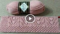 This Pin Was Discovered By Fun - Diy Crafts - Qoster Knitting Videos, Knitting Stitches, Baby Knitting, Crochet Motifs, Knit Crochet, Knitting Designs, Knitting Patterns, Fun Diy Crafts, Crochet Woman