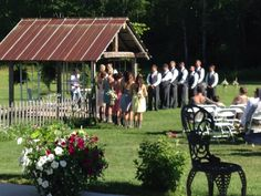 Ceremony site @ Brule River Barn