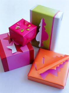 Make presents under the tree even more hard to resist with these fun three dimensional shapes.