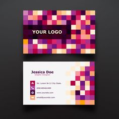 Colorful wave business card design free vector more at free business card template reheart Images