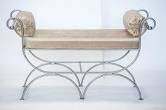 Wrought Iron Classic bench. Handmade in Lincolnshire UK.