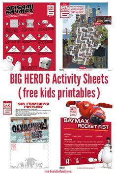 Big hero 6 writing activity for kids