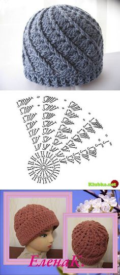 Crochet Puff Stitch Beanie Hat That is just really neat to look at. Easy to crochet. Bonnet Crochet, Crochet Beanie Hat, Crochet Cap, Crochet Diagram, Crochet Baby Hats, Crochet Clothes, Crochet Stitches, Free Crochet, Knitted Blankets