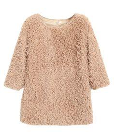 Fluffy Seven Sleeves Round Neckline Pullover - Knitwear