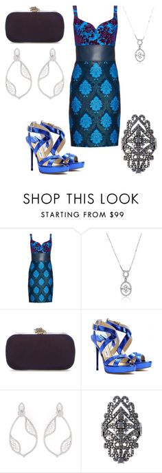 """""""Untitled #25164"""" by edasn12 ❤ liked on Polyvore featuring Mary Katrantzou, Mark Broumand, House of Harlow 1960, Jimmy Choo, JoÃ«lle Jewellery and Elise Dray"""