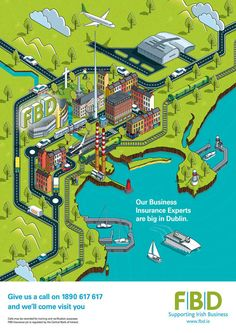 FBD advert. Cool digital map of Ireland.
