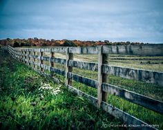 Country Fence Landscape Photograph. Fence Photo.  Autumn Fall Colors Photo. Midwest. Wisconsin Landscape. Fine Art Photography 8x10 Print via Etsy.