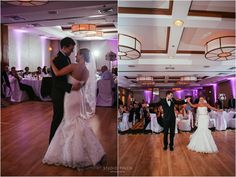 Real Wedding at Embassy Suites Chicago Downtown |  Images by Studio Finch    #city - urban, #dancing, #hotel, #lace wedding dress, #lighting, #purple