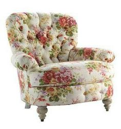 Rose patterned chair