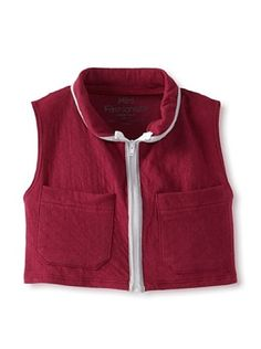 89% OFF Mini Fashionista Girl's Quilted Vest (Cranberry)