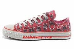 8607440581f0 Double Tongue Pink Converse Women Dr Suess Cindy Lou Who Canvas Low Tops  Converse Store