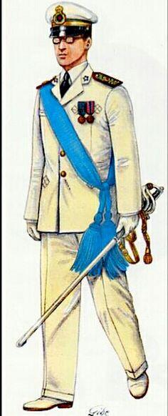 Regio Esercito, Tenente di Commissariato in grande uniforme estiva,1936 - pin by Paolo Marzioli