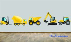 Construction Dump Truck Wall Decal Set of by StudioWallStickers, $75.00