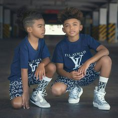 Brothers With Swag Black Kids Fashion, Heart Crown, Black Heart, Swag