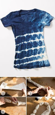 DIY Shibori indigo dye: