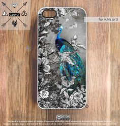 Peacock iPhone 4s Case  iPhone5 Case Silicone by casesbycsera, $18.99