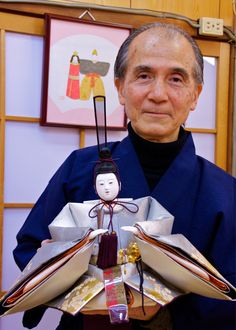 Ando Tadahiko is a third generation master craftsman who now runs his families business - the Ando doll shop in Kyoto