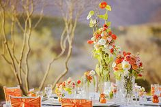 Beautiful spring table setting.