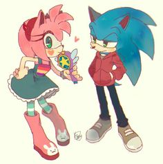 Sonamy and Star Vs. The Forces of Evil crossover! Sonic Team, Sonic 3, Sonic And Amy, Sonic Fan Art, Sonic Heroes, Amy Rose, Sonic The Hedgehog, Shadow The Hedgehog, Sonic Fan Characters