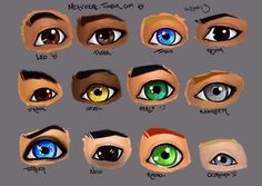 Piper's eyes are rainbow << Actually, nowhere in the series does it say her eyes are rainbow, just that no one can decide what color they are