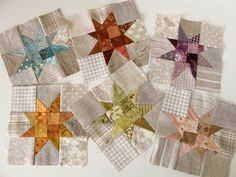 PatchworkPottery: Rainbow Star Quilt