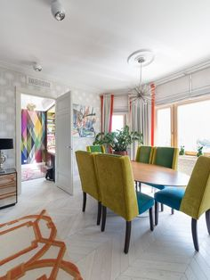 From Russia with bold boho love - dining area