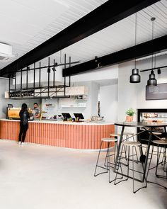 Poacher & Hound was designed by Melbourne-based Technē Architecture. View this interior archive & more at The Local Project. Coffee Shop Interior Design, Italian Interior Design, Coffee Shop Design, Restaurant Interior Design, Cafe Design, Restaurant Furniture, Plywood Furniture, Design Furniture, Kid Furniture