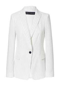 Love jackets with vertical stripes.